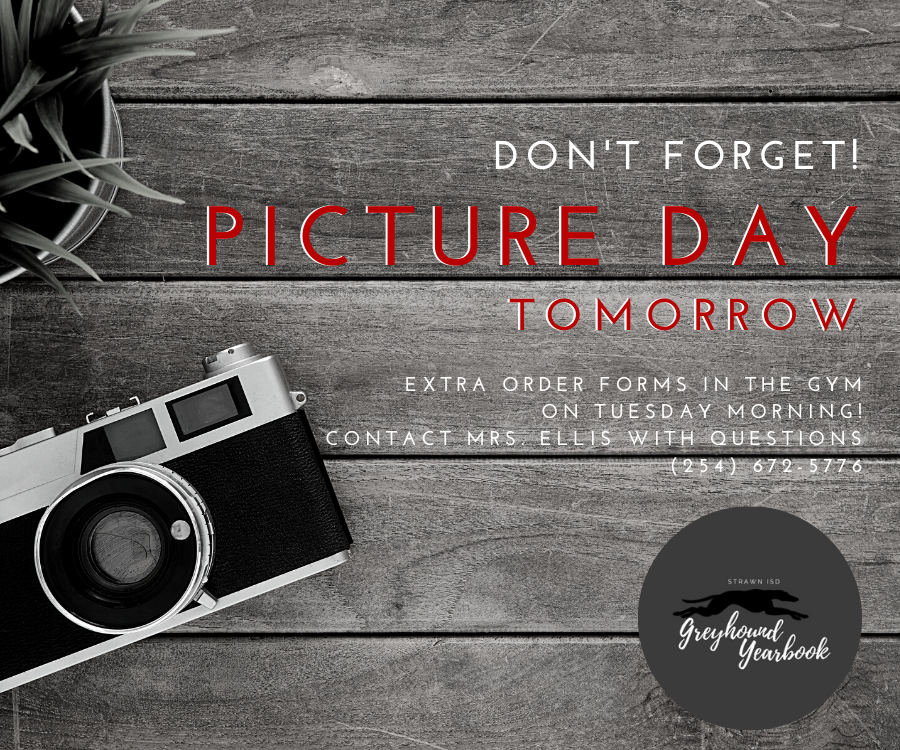 Reminder: Picture Day is Tuesday, Sept. 29