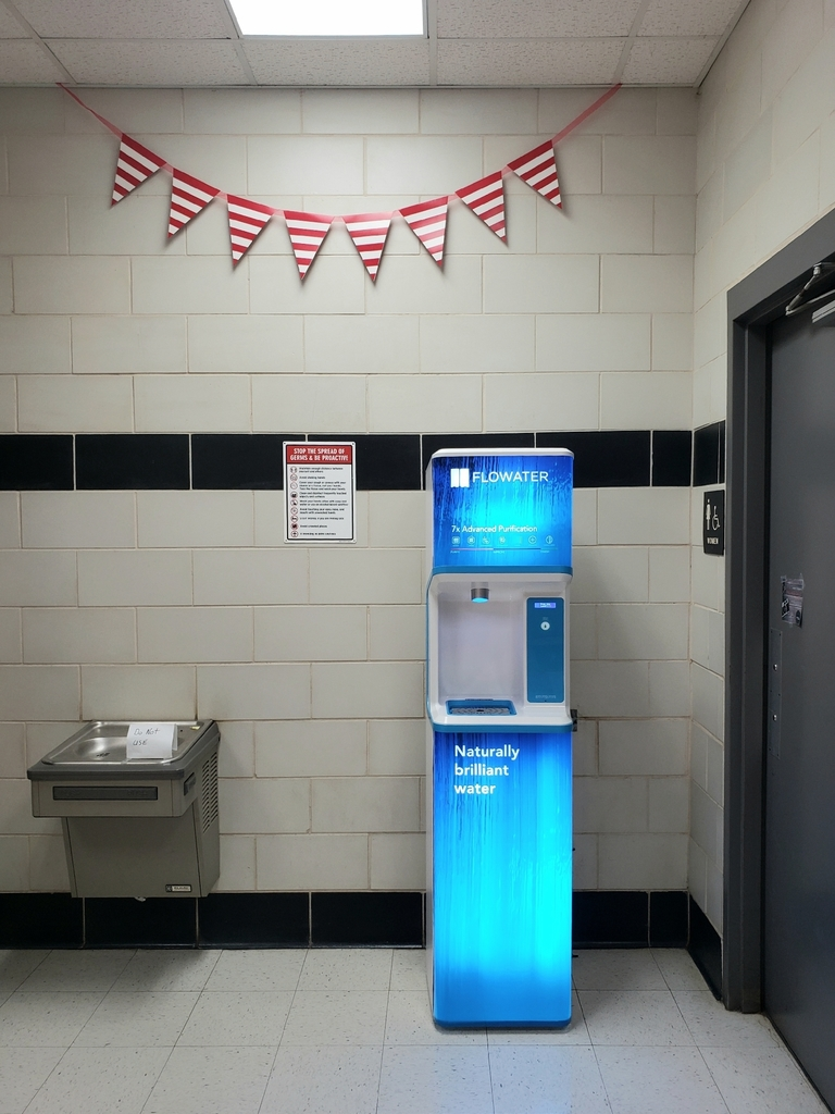 new water bottle filling station at Strawn ISD
