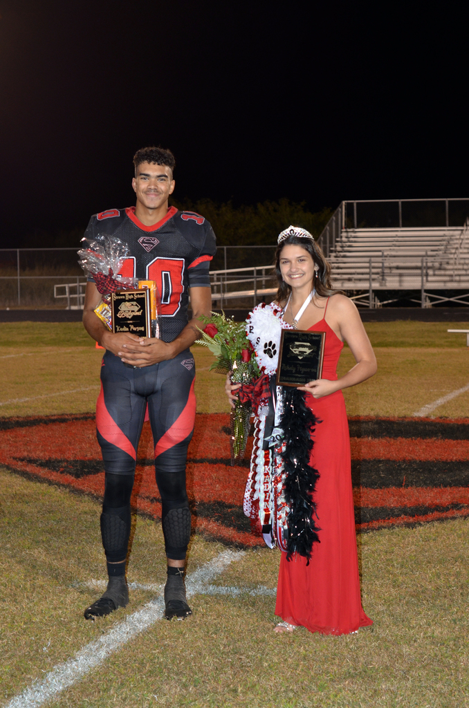 Mr. Greyhound - Kadin Parsons Homecoming Sweetheart - Ashley Figueroa