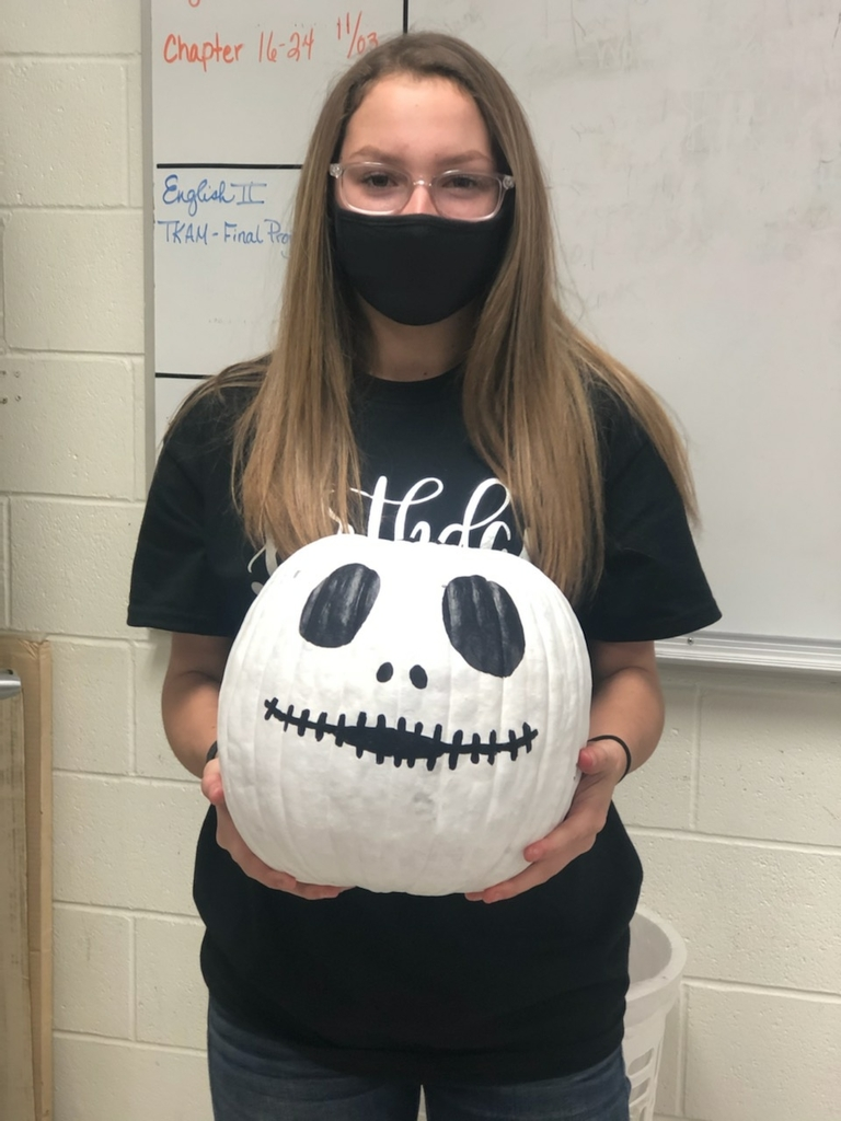 jenesis and her pumpkin