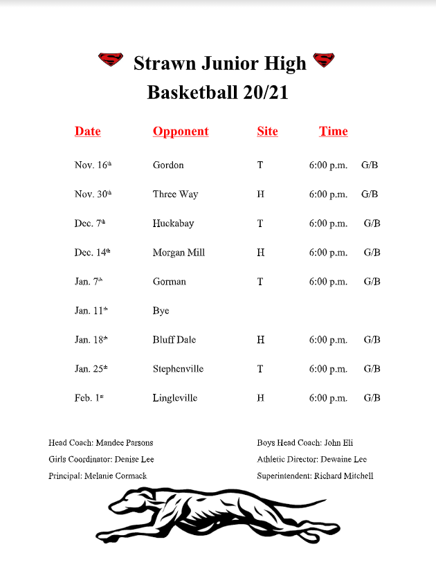 jh basketball schedule