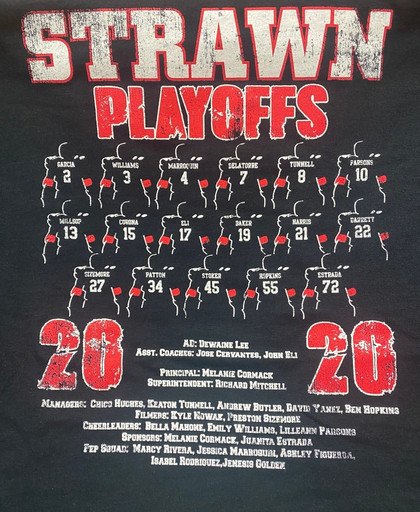 Playoff Shirt Back: Roster