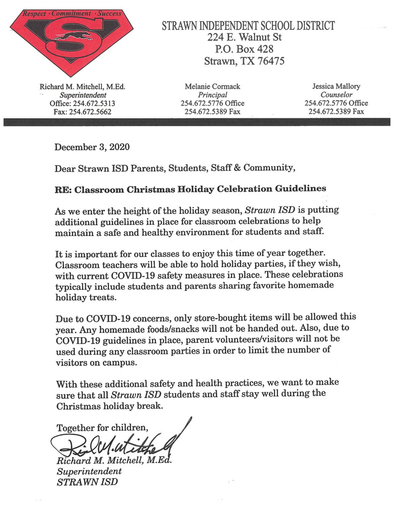 Classroom Christmas Holiday Celebration Guidelines