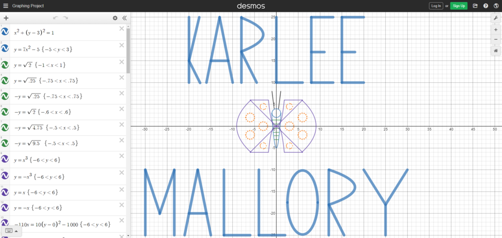 Desmos Graphing