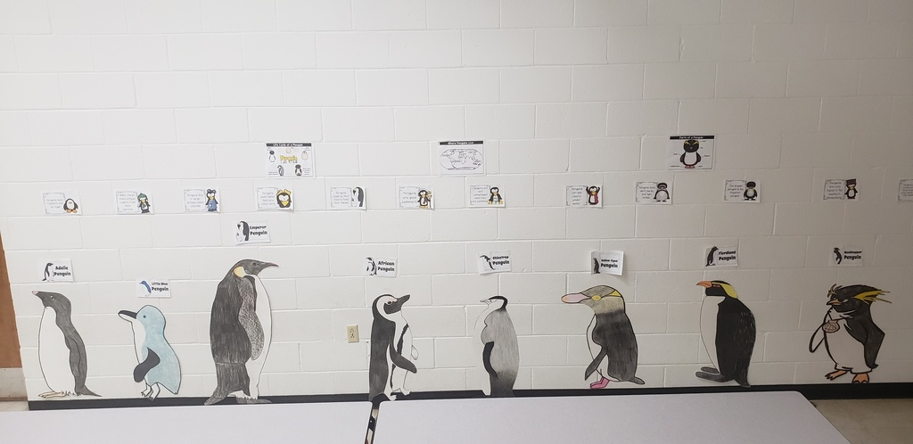 Penguins designed by the Art class