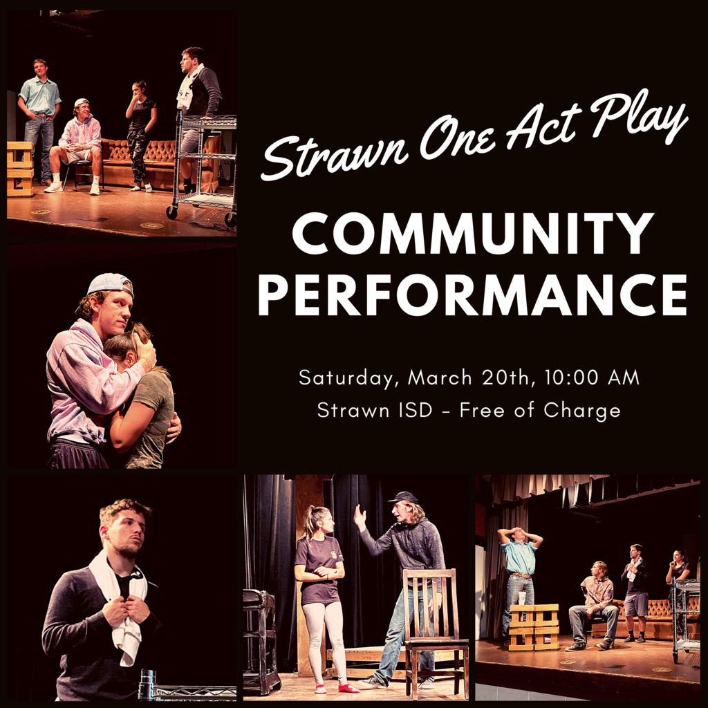 One Act Play - Free Community Performance Sat. March 20, 10 AM