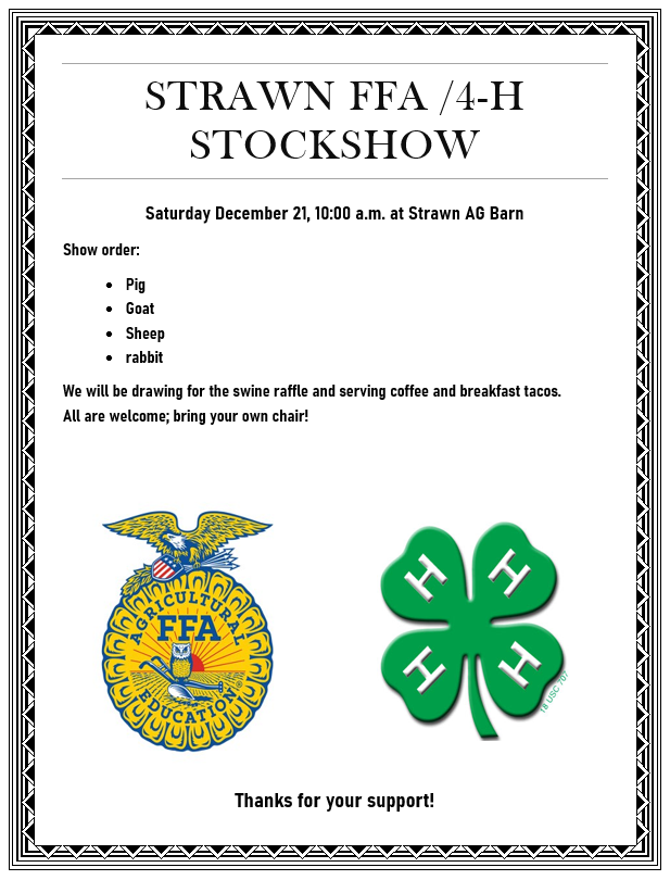December 21 Strawn Stock Show