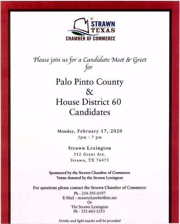 Candidate Meet & Greet Monday, February 17th, 5-7 PM, at the Strawn Lexington