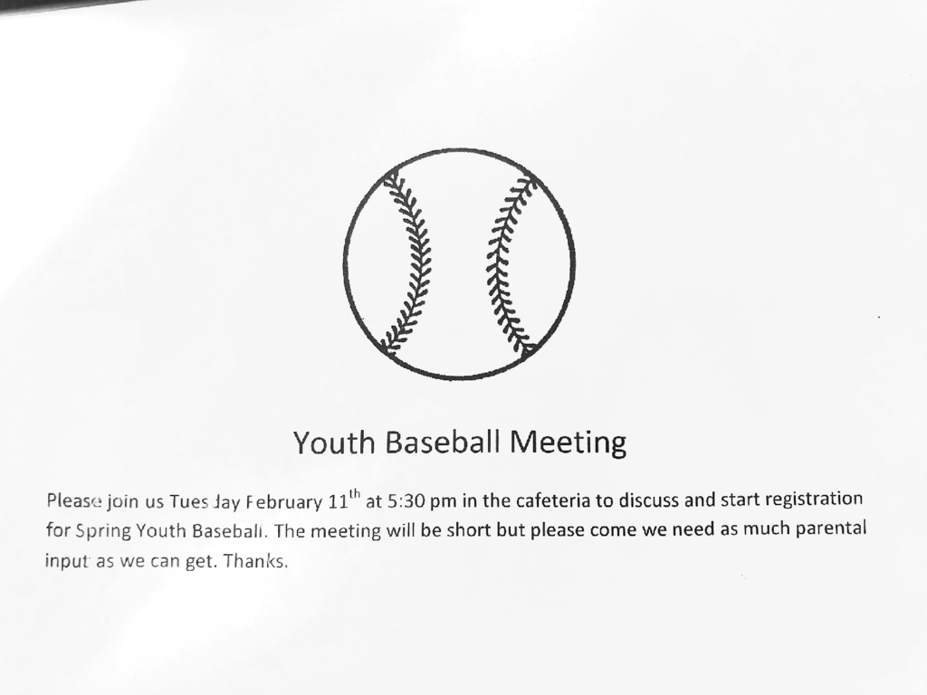 youth baseball meeting
