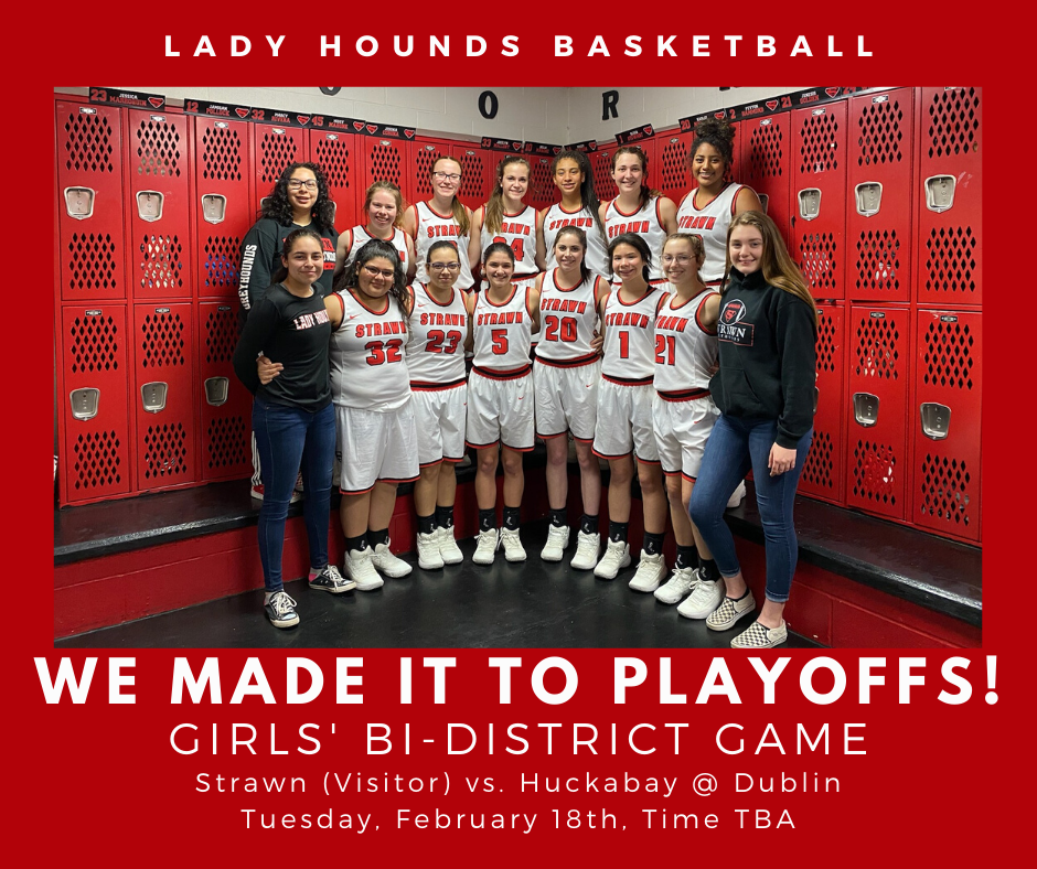 Bi-District Playoff Game is Tuesday, February 18th, Time TBA