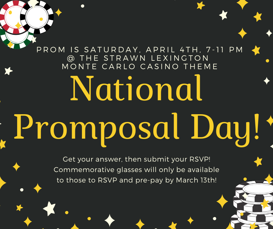 Today is National Promposal Day! RSVP for Prom by March 13!