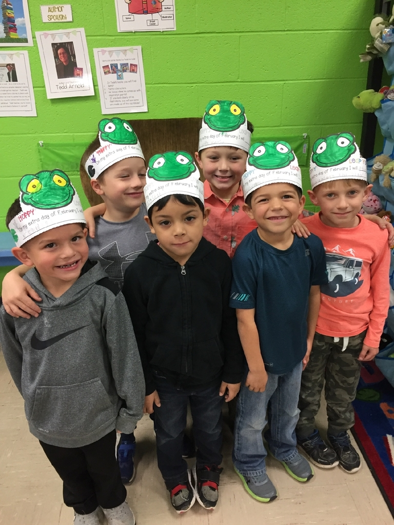 Happy Leap Year from our Kindergarten frogs!