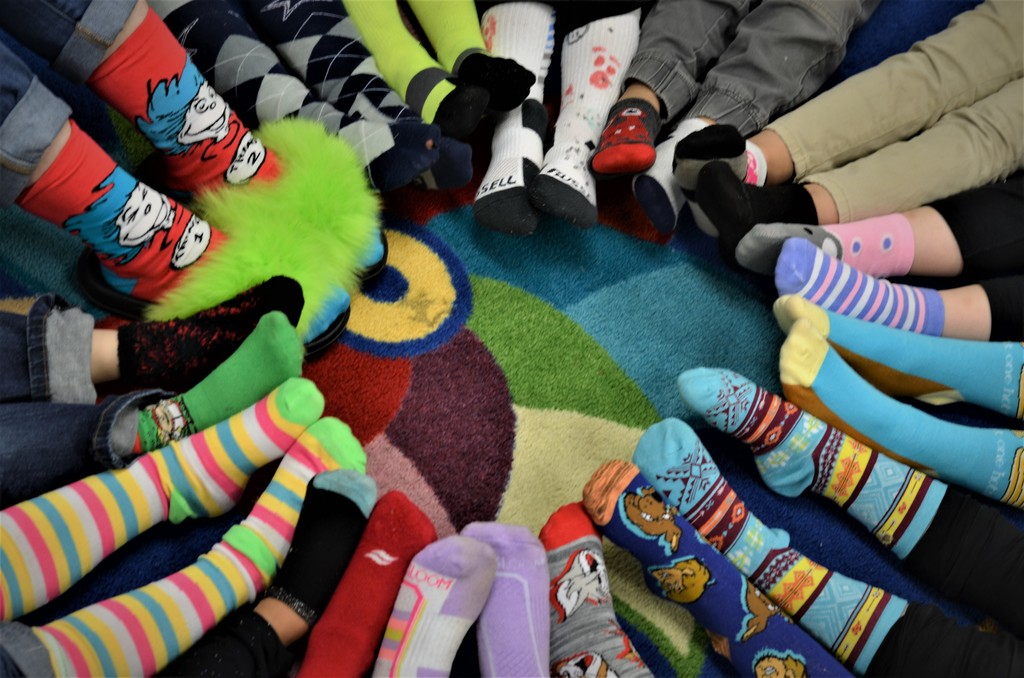 Kindergarten's Circle of Silly Socks