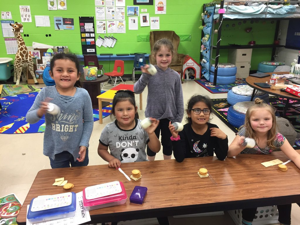 "Kindergarten made butter after reading Dr. Seuss's ""The Butter Battle Book"""