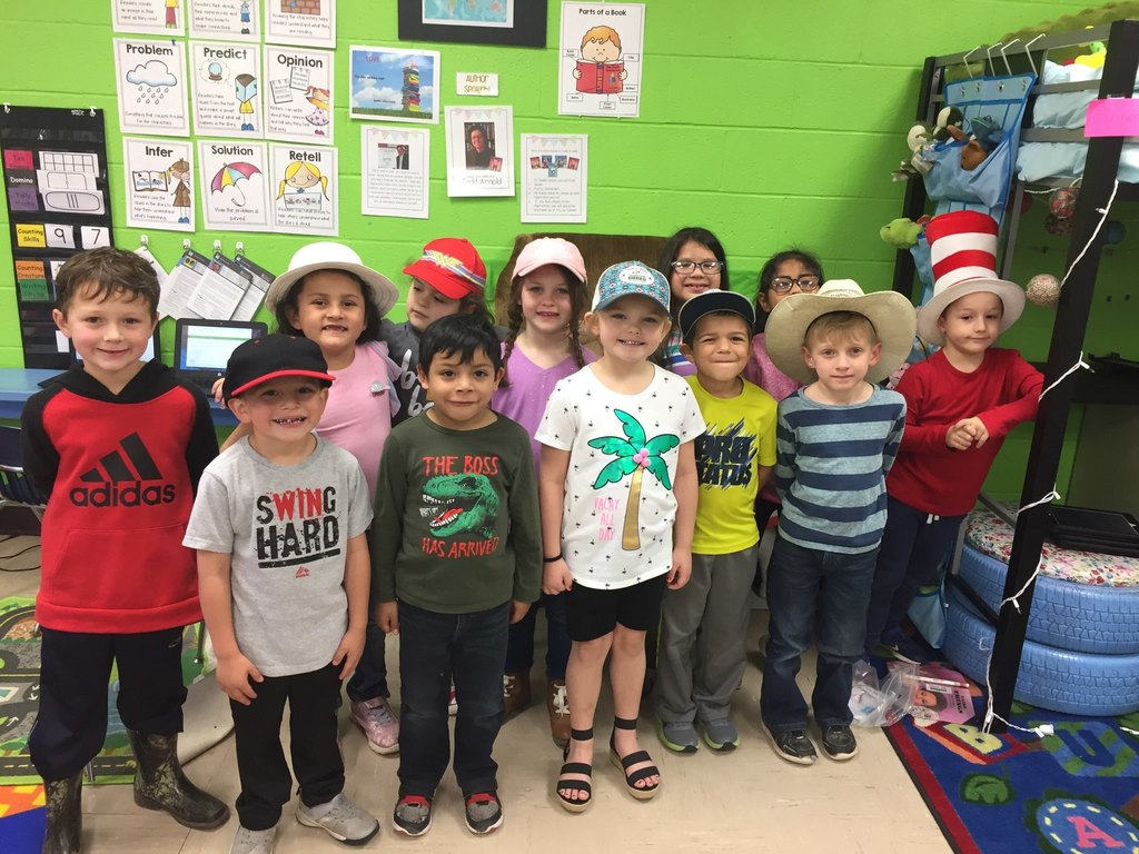 Kindergarten copies the Cat and wears some fun hats of their own!