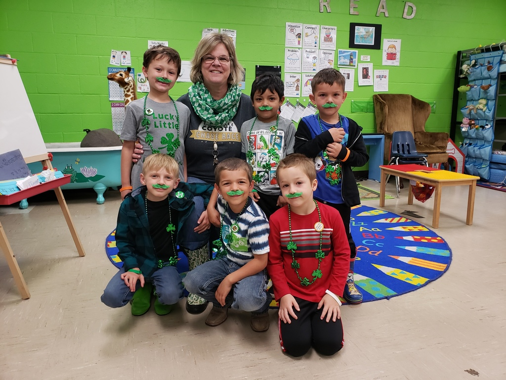 Happy [early] St. Patrick's Day, from Kindergarten!