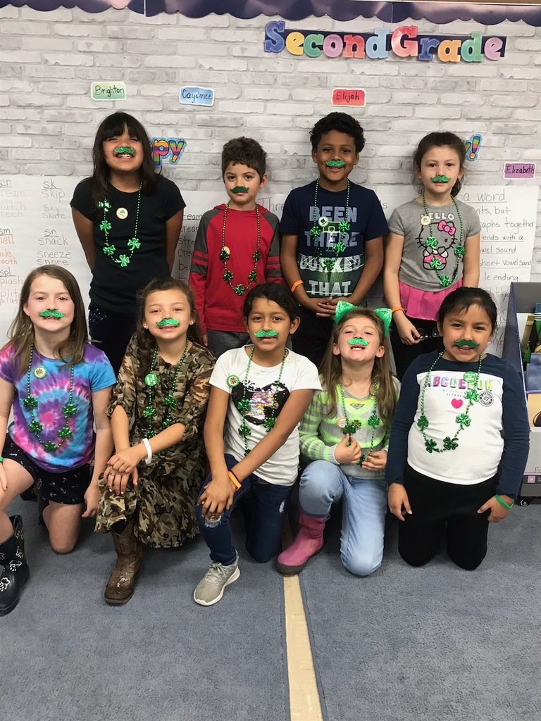 Happy [early] St. Patrick's Day, from Second Grade!