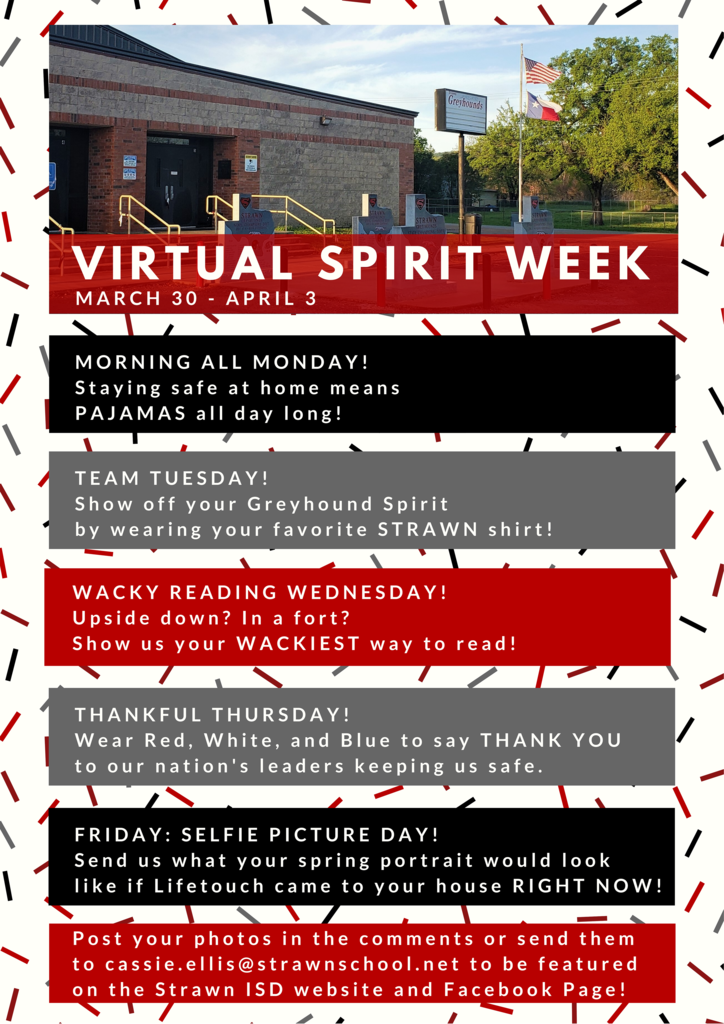 Virtual Spirit Week! March 30-April 3