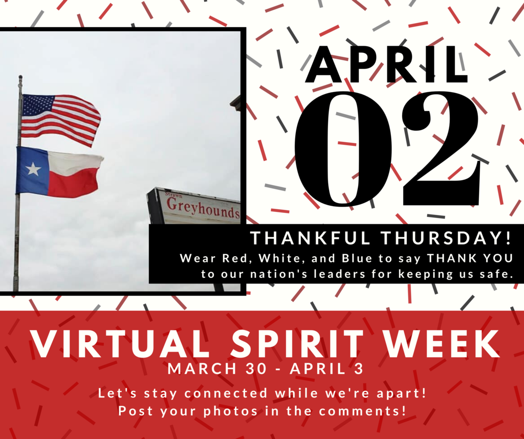 Virtual Spirit Week: Thankful Thursday