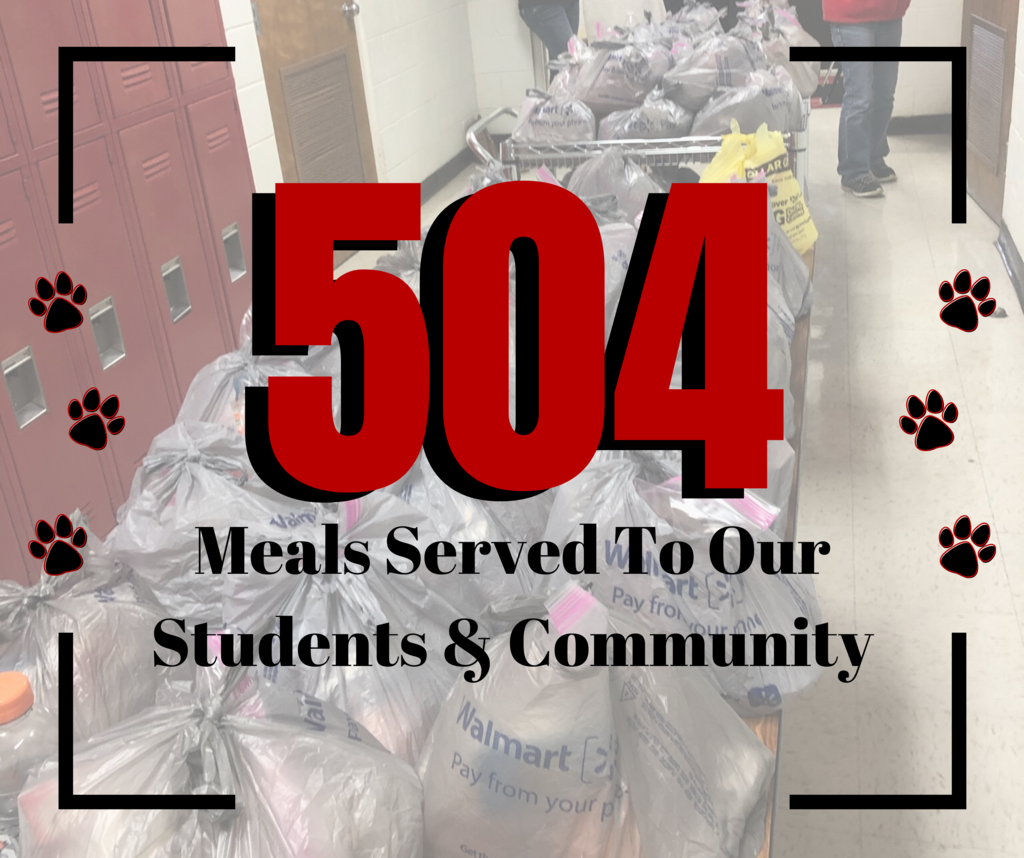 504 Meals were served this week to our students and community!