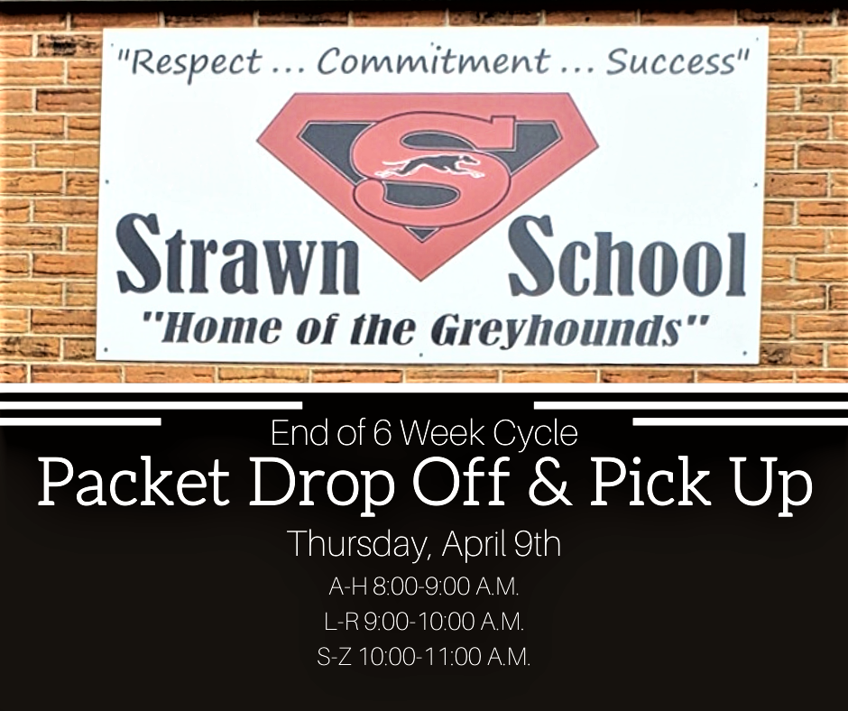 Packet Pick Up and Drop Off is tomorrow, April 9th!