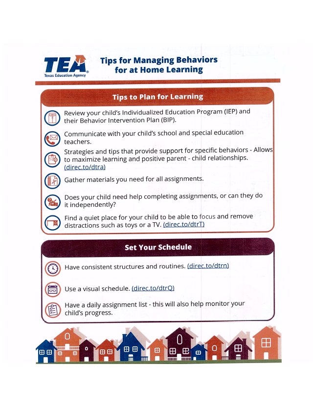 Tips for Managing Behaviors for At Home Learning Page 2
