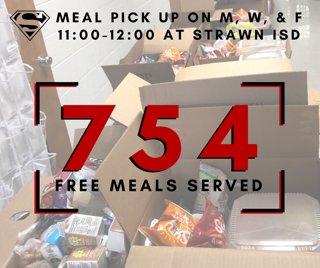 Strawn ISD served 754 Free Meals to the community last week.