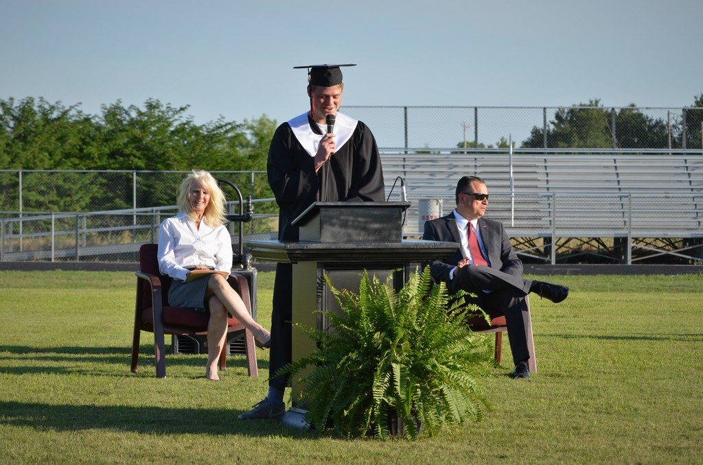 Valedictorian Noah Hopkins