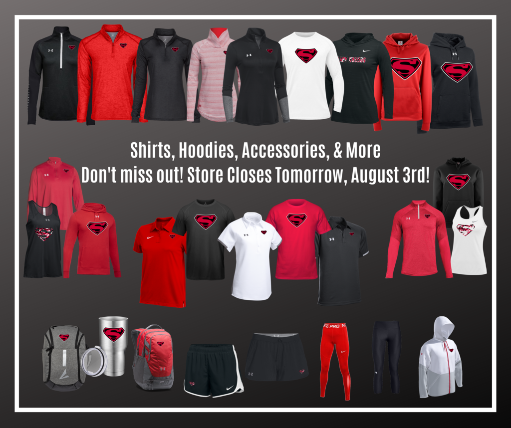 My Team Shop closes tomorrow, August 3rd. Don't miss your chance to buy shirts, hoodies, and more!