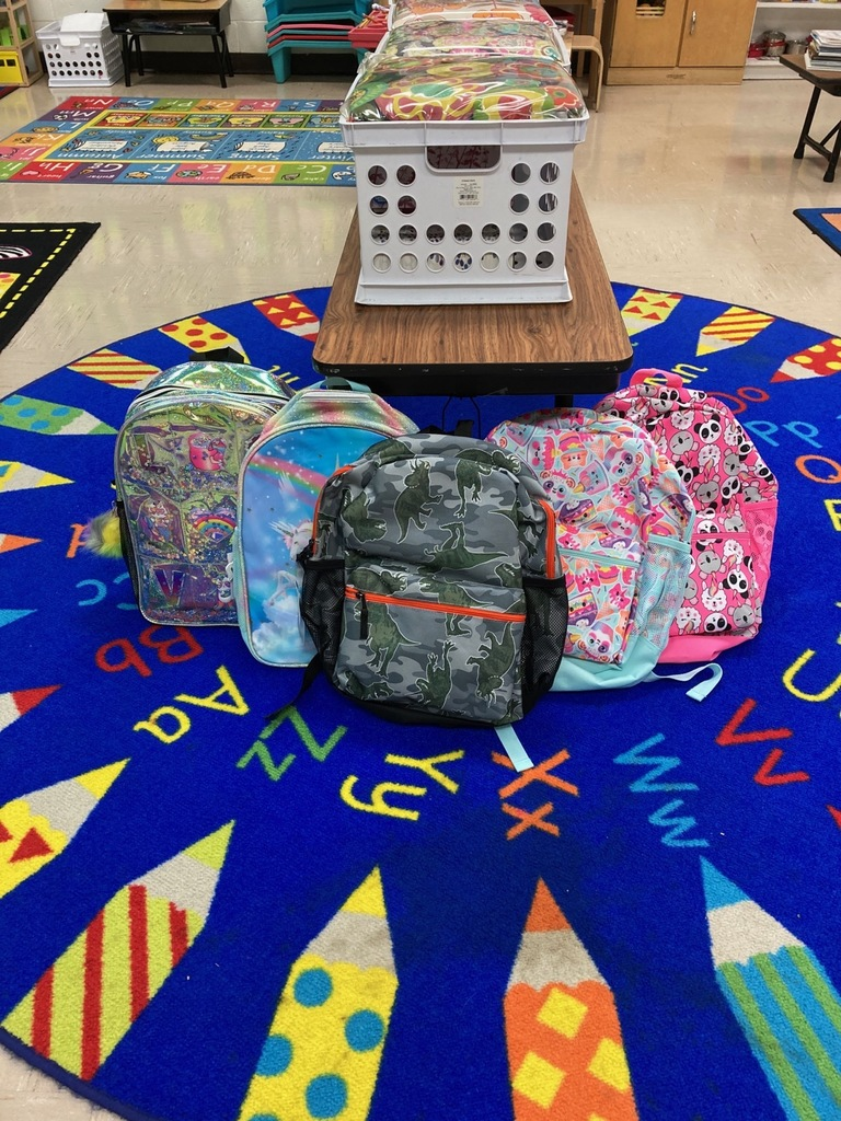 Backpacks were presented to students who completed Summer School, provided by Strawn ISD's Education Foundation.