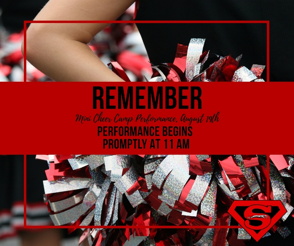 mini cheer performance starts at 11 tomorrow