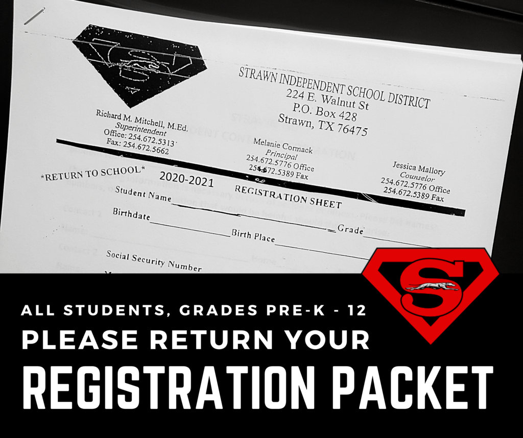 Please return your registration packet.