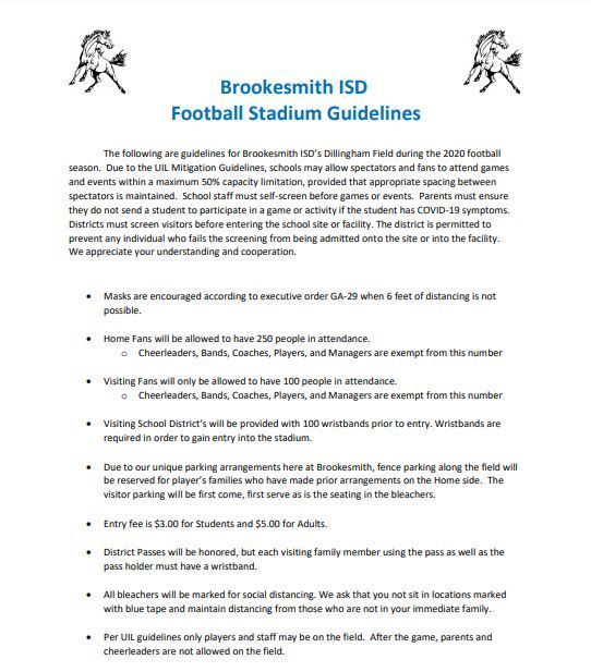 Brookesmith Fan Guidelines