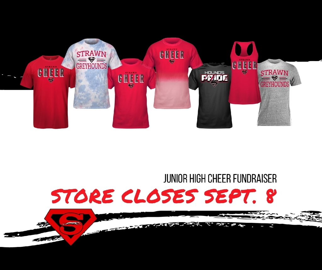 jh cheer fancloth store closes tuesday, sept. 8